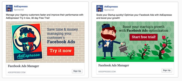 comparing Facebook advertisement campaigns